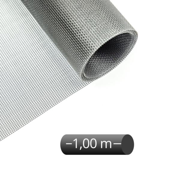 Fliegengitter Rolle Fiberglas Grau 100 cm