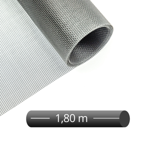 Fliegengitter Rolle Fiberglas Grau 180 cm
