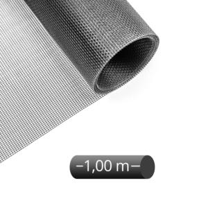 Fliegengitter Rolle Fiberglas schwarz 100 cm